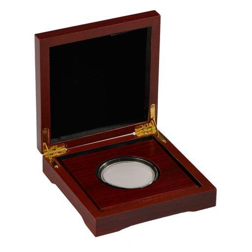 Houten kistjes verpakking voor munten en penningen