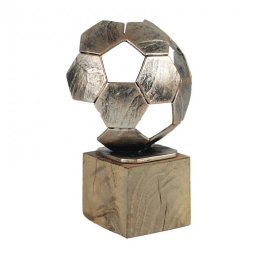 Luxe Voetbal awards trofeeen van metaal