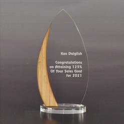 Houten awards met acrylaat bestellen of laten maken