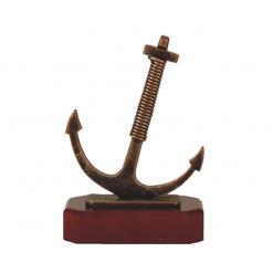 Metalen anker scheepvaart beeldjes awards