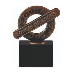 Congratulations felicitatie beeldje award van metaal