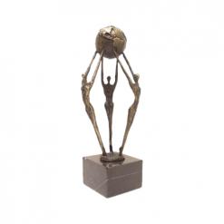 Wereld wereldbol awards beeldjes beelden en sculpturen laten maken