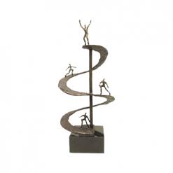 teamwork en prestatie awards beeldjes beelden en sculpturen laten maken