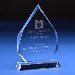 AWPLGL010 Plaquettes Awards van glas, kristal, plexiglas, acrylaat en hout