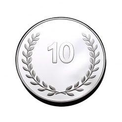 10 jaar jubilaris jubileum geschenken munt penning