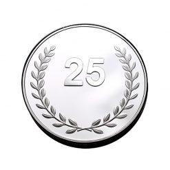 25 jaar jubilaris jubileum geschenken munt penning