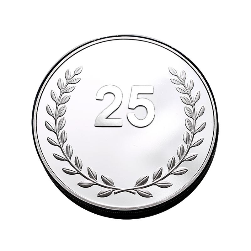 Geliefde 25 Jaar Jubileum Geschenk   Kies onze Verzilverde Munt. #PC22