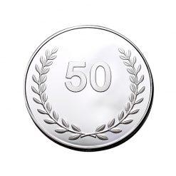 50 jaar jubilaris jubileum geschenken munt penning